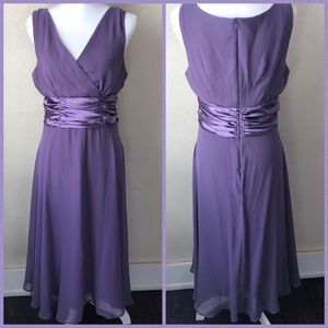 Connected Apparel Chiffon Cocktail Dress 12 Purple